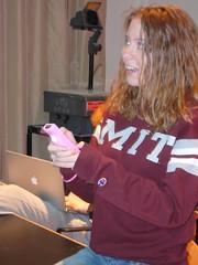 erica plays supermonkeyball (alist) Tags: student mit videogames 02139 wii robison comparativemediastudies cmsmit