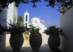 In the far back, God (Andreas Constantinou ) Tags: summer church buildings hotel mediterranean cyprus visualart paphos anassa