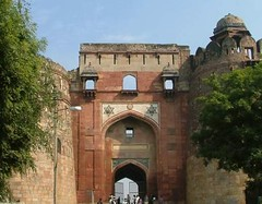 Delhi, India - old / stary/  fort (LeszekZadlo) Tags: voyage travel india architecture puerta ruins gate asia fort delhi urlaub worldheritagesite indie porta porte tor fortifications fortress indien poort festung moghuls puranaqila burgtor podr greatmughals