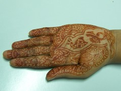 The Indian Tatoo (shrikrish) Tags: india palm mehndi marudhani