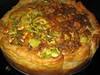 Vegetarische broccoli taart met cashewnoten