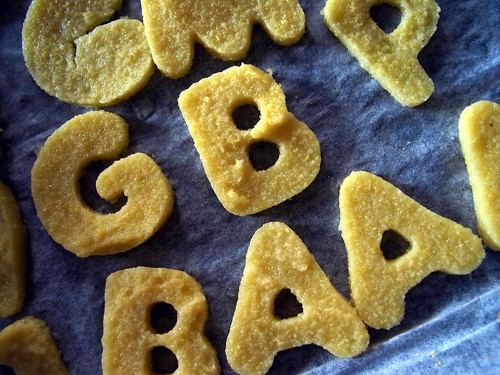 Edible letters