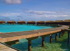 Water Bungalow (maapu) Tags: travel sea sky sun holiday water hotel sand sunny tourist resort maldives bungalow hotspot maapu mauroof travelerphotos