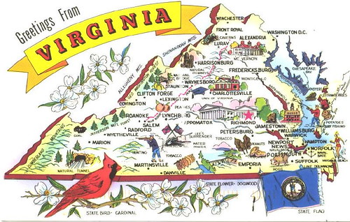 Map Of Jamestown 1607. Virginia - greetings map