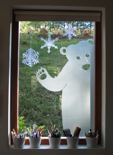 Window Bear inside
