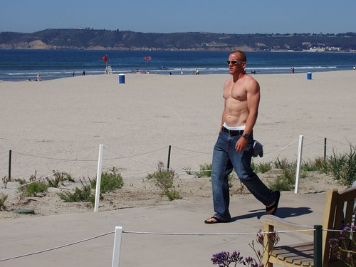 Flickr: N!(K -- loveforphotography -- Hot guy walking on beach in San Diego, Cali