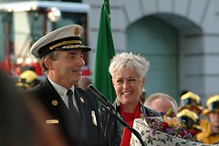 Chief Bamattre and his wife Liz say farewell. Click to view more...