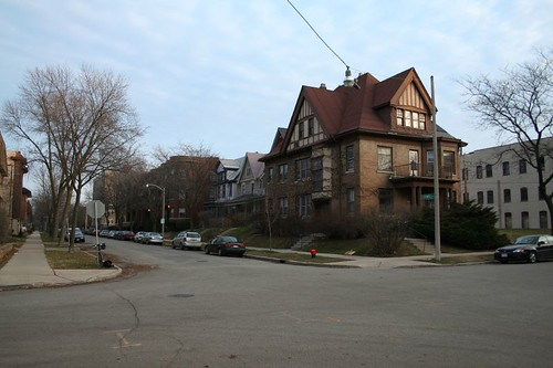 N. Stowell Avenue at E. Webster Place