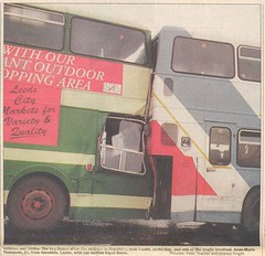 Bramham bus smash 1996 (Keyfabe) Tags: school bus boston crash district yorkshire special rider spa keighley