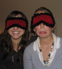 Velevet Oblivion 2 (nicole.hindes) Tags: red knitting knit handknit gift eyelash knitted knitty eyemask touchme sleepmask velvetoblivion