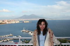 View from a hotel (! .  Angela Lobefaro . !) Tags: trip travel italien vacation sky italy woman girl beautiful volcano mujer topv333 jung pretty italia chica sweet retrato feminine quality gorgeous femme young gimp