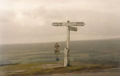 Yorkshire signpost (Jacqi B) Tags: uk winter sign countryside yorkshire 1997 signpost englishcountryside goathland travelswithlindadave uktravels 123signs yorkshirepool jacqistravels travelswiththetrumans jacqisuktravels