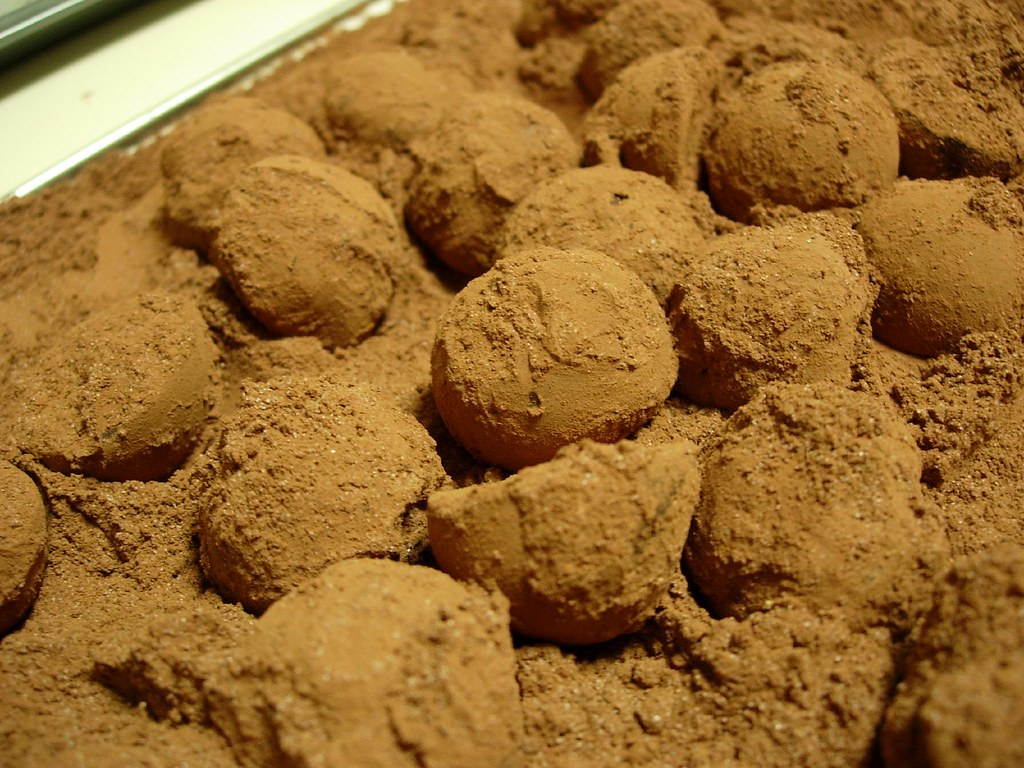 Lime and Honey chocolate truffles