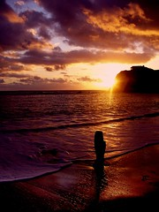 Sunset at Freshwater Bay, Isle of Wight, UK (s0ulsurfing) Tags: s0ulsurfing 2006 isleofwight clouds sea sunset freshwaterbay reflections shadows silhouette sunrays sunbeams cloud sky water coast coastline beach small waves breathtaking magnificent wonderful stunning beautiful delicious fantastic tones gorgeous wow light colour warm cliche dusk sundown beams rays liquid gold interesting abigfave bonzag dramatic astounding dreamy 100v10f instantfave topf25 outstanding outstandingshots superb p1f1 30faves30comments300views aplusphoto tag1 tag2 tag3 taggedout superaplus