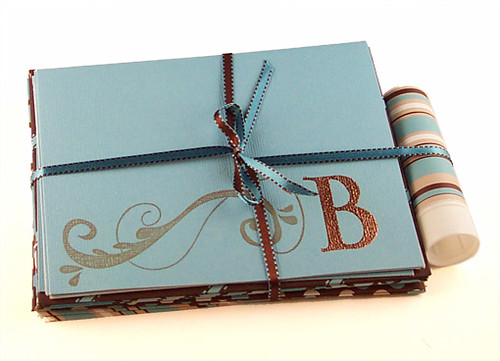 Embossed cards w/ bow