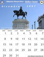 Calendario dicembre 2007