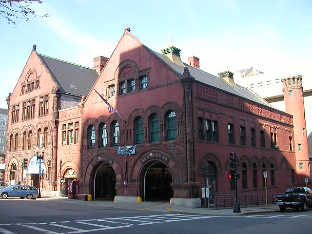Fire station in Boston
