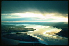 Fall light over the Mackenzie River