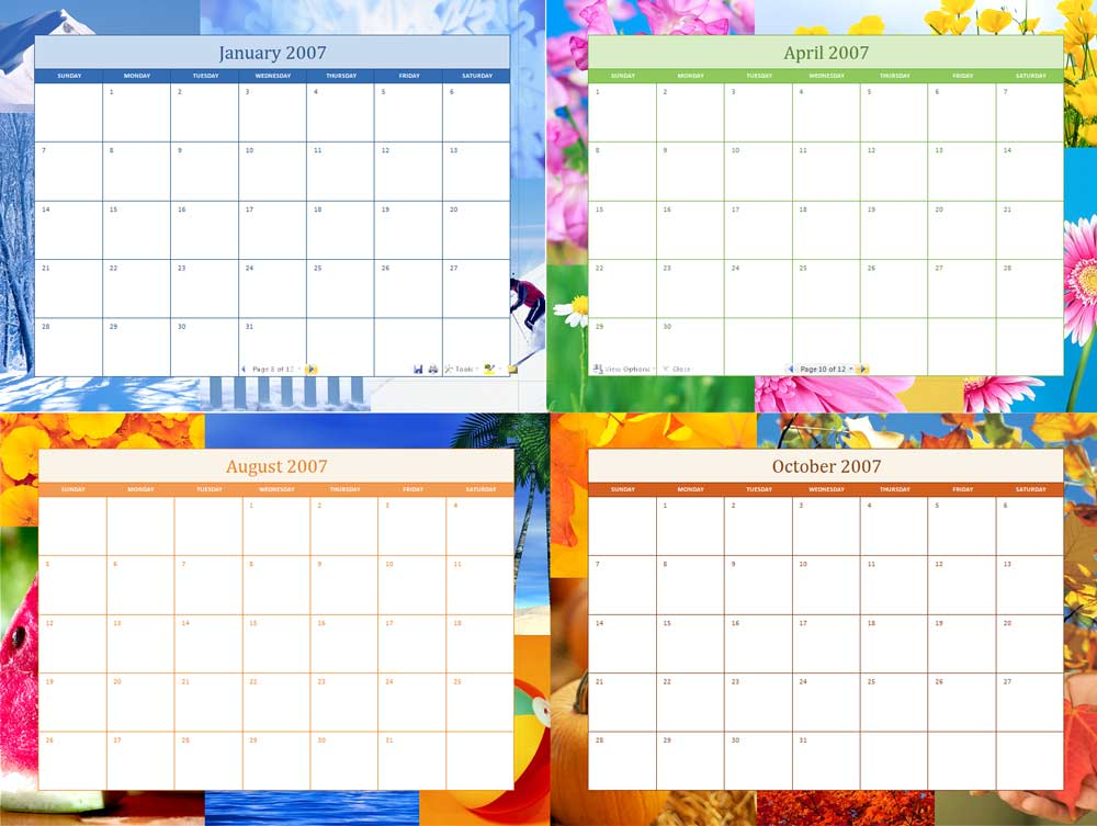 2007 Calendar for Microsoft Word