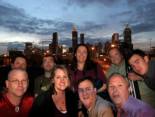 Charter members of the Atlanta Skyline at Night group, on the inaugural