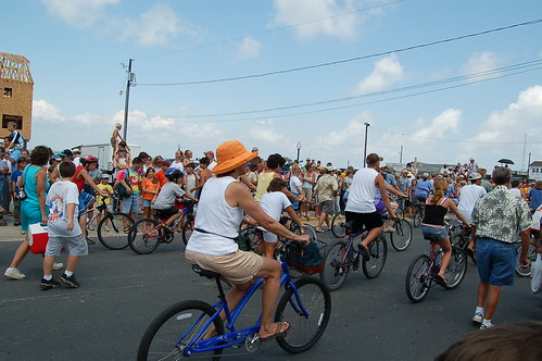 Bikers follow Pony Parade to Chincoteague Carnival Grounds