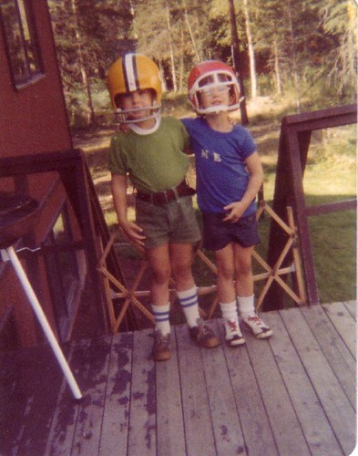 Kev & I in helmets.
