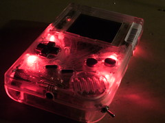 Clear transparent red DMG Gameboy