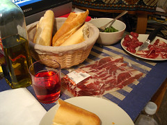 Spread (su-lin) Tags: food dinner bread ham greenbeans jamon pernil fuet
