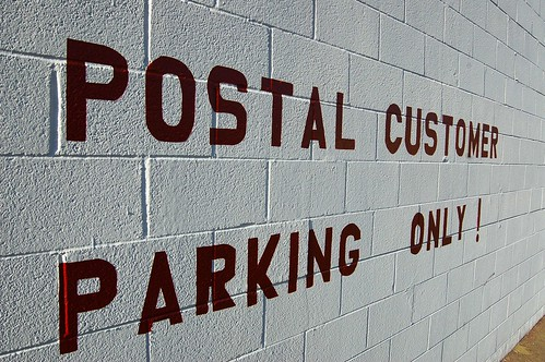 Postal Customer Parking Only!
