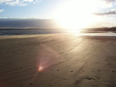Swansea bay with amazing sun