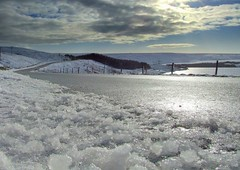 Winscar (andrewlee1967) Tags: road uk winter england sky snow ice clouds landscape yorkshire reservoir lowangle helluva winscar andrewlee p1f1 andrewlee1967 isawyoufirst andylee1967 focusman5