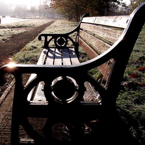 Lonely bench on a crispy day by jlccordeiro.
