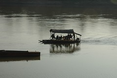 Crossing the Sekong River at Sunset, Attapeu (travelfishery) Tags: sunset laos attapeu sekongriver