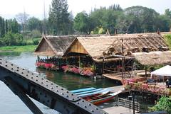 Floating resturants (so_much_love) Tags: river kanchanaburi kwai