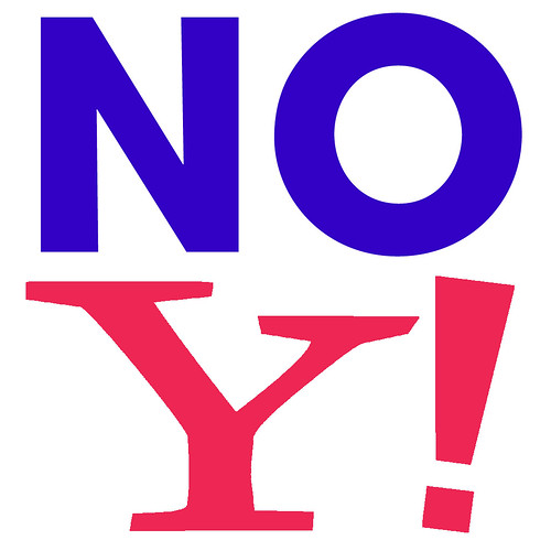 NO YAHOO! -- The civil disobedience continues