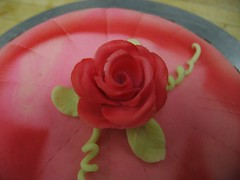 Red Rose (cupcakeamour) Tags: cakes chef pastry marzipan centerpieces tortes cakeclass johnsonwalesuniversity sugarshowpieces