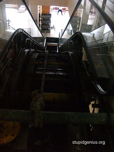 Escalator under maintenance