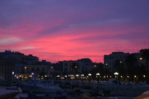 Sunset over Bari