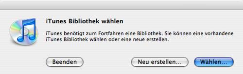 iTunes Choose