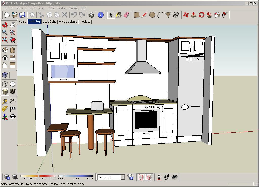 Diseñando cocinas con Google SketchUp - XperimentoS