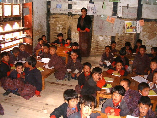 kindergarten classroom in Bhutan