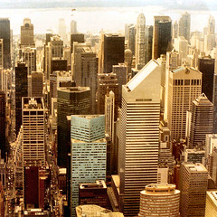 East River heli-flight + 599 Lexington Ave. (Frizztext) Tags: nyc newyork square geotagged map manhattan 1996 helicopter galleries eastriver philipjohnson dictionary att citicorp iconography lexingtonave citicorpcenter sonybuilding heliflight frizztext edwardlarrabeebarnes