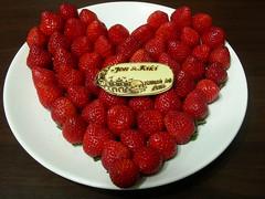 Happy Valentine's Day  - 草莓愛心