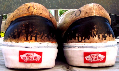 vans slip ons custom rear view