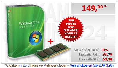 Windows Vista + RAM bei caberport24.de