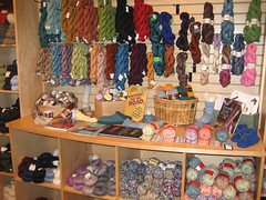 bella filati, wall of sock yarn!