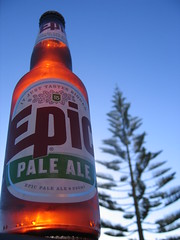 Norfolk Pine and Epic Pale Ale (epicbeer) Tags: new morning blue newzealand sky sun tree beer pine bottle norfolk ale craft pale zealand nz epic microbrewery epicbeer top20beer epicbrewingcompany