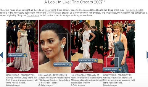 Like.com oscar fashions