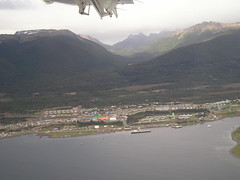 Puerto Williams from plane