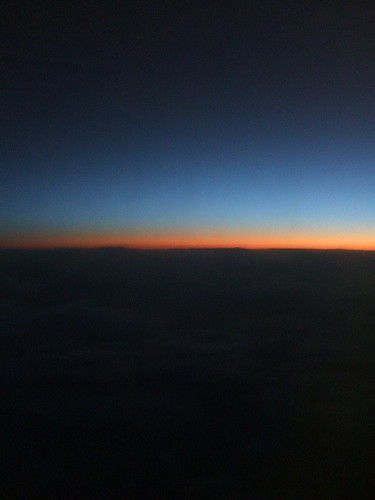 View from Continental Flight 16, Seat 1A